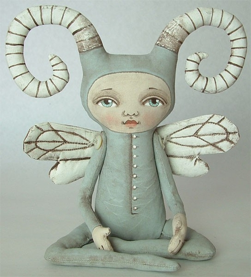 ZOEE BUG - Contemporary Folk Art Doll-MADE TO ORDER